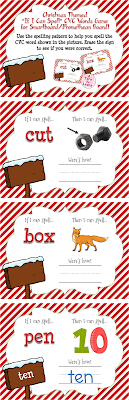 This Christmas-themed game is the perfect way to get your students practice tons of different skills in one activity! They'll need to read a CVC word, identify what rhyming word is identified by the picture, and use the spelling pattern and their knowledge of words with short vowels in order to spell the CVC word shown!