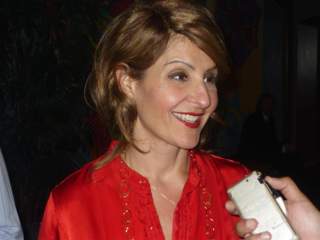 ladies in satin blouses nia vardalos various pictures