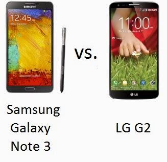 Samsung, Galaxy, Note 3, LG G2, Comparativa, Celulares