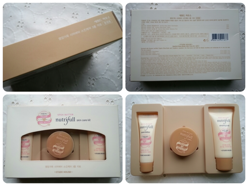 Etude House Shea butter nutrifull skin care kit