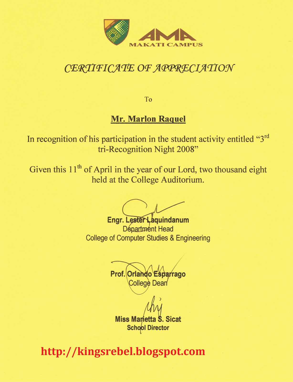 Tidbits and bytes example of certificate of participation tidbits and bytes example of certificate of participation student recognition night yelopaper Choice Image