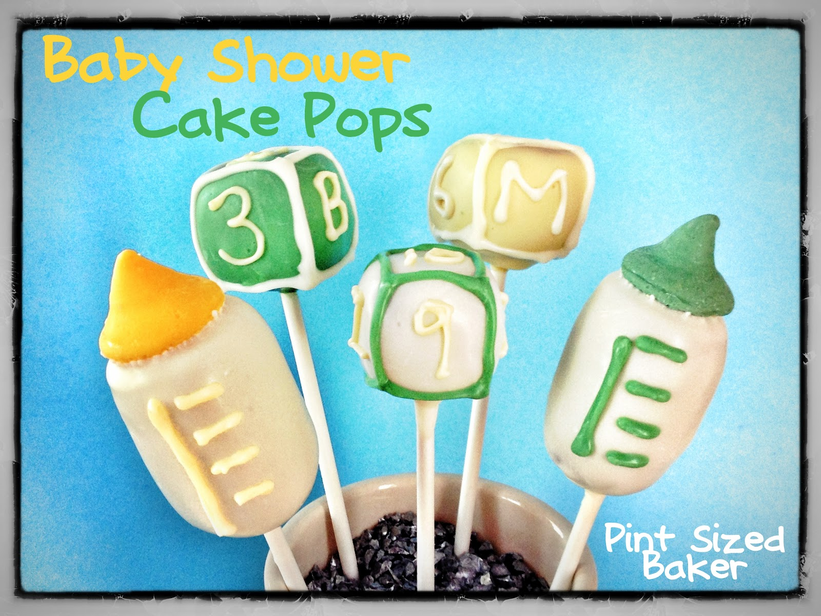 pint sized baker baby shower cake pops tutorial