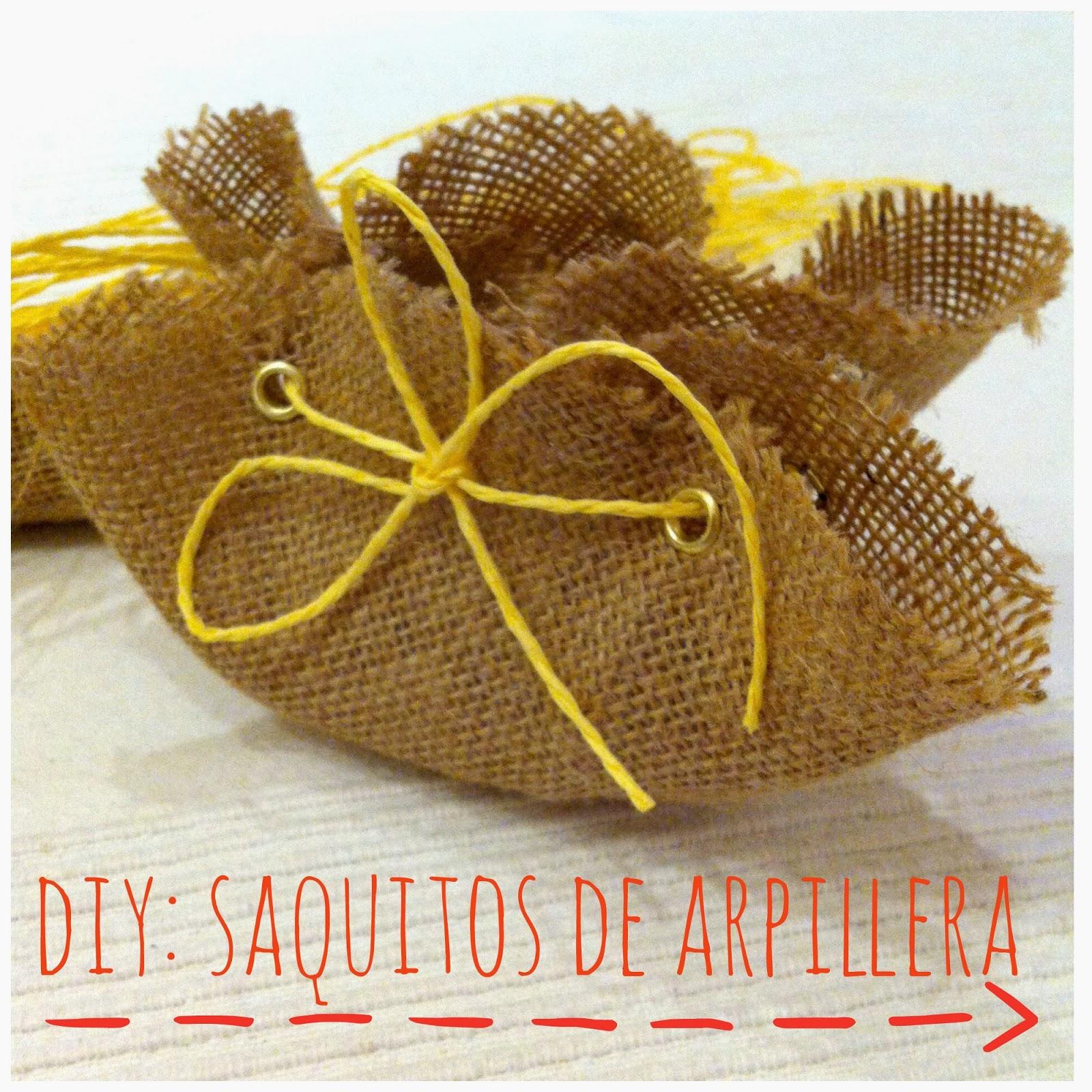 Y tan flamenca diy saquitos de arpillera diy little - Saquitos de tela ...
