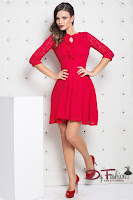 rochie-office-Red Look