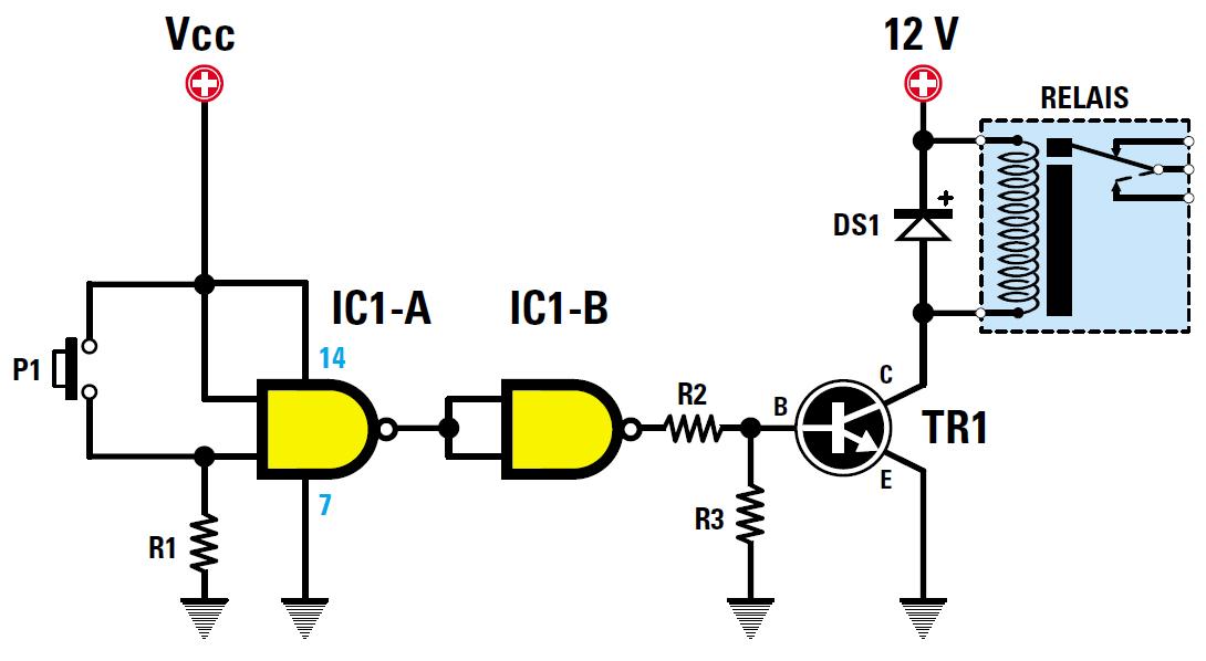 Sch mas des relais et comment les commander arduino for Porte xor avec nand