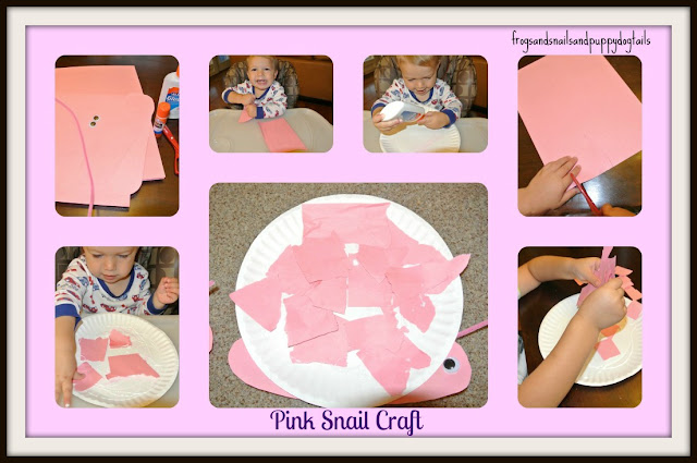 Pink Snail Craft in Honor of Breast CA Awareness