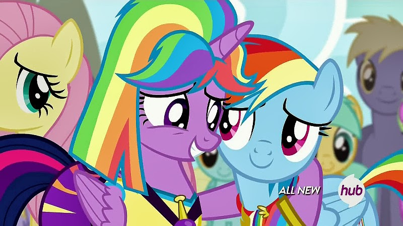 Twilight and Dash hug and make up