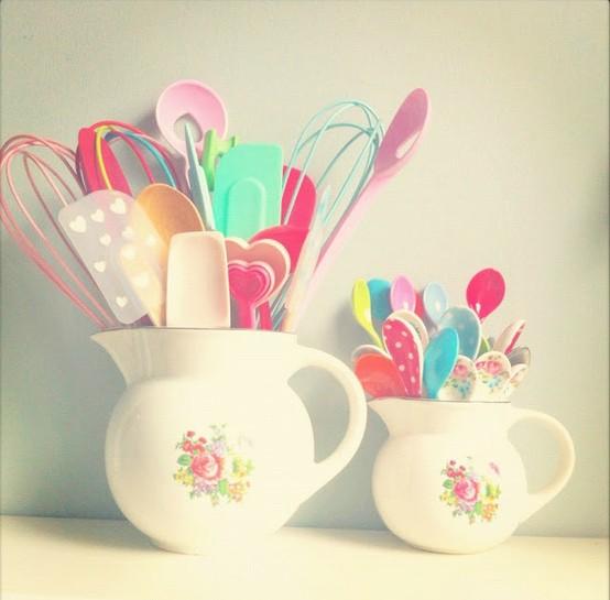 decoracao cozinha fofa:Cozinha fofa e romântica em rosa e azul