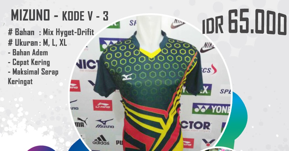 Baju Kaos Seragam Setelan Pakaian Voli Volley Volly Mizuno