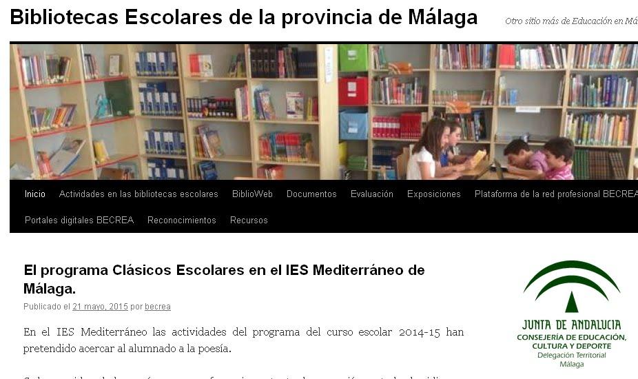 Blogs de bibliotecas escolares de la provincia de Málaga