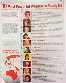 Senarai Wanita Yang Paling Berkuasa Di Malaysia