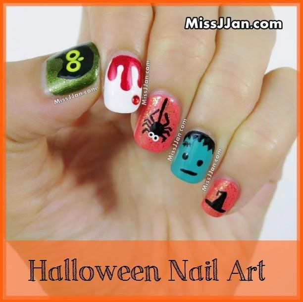 Halloween Nail Art (5 Cute and Easy Design!!!)