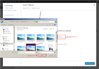 how to select the images from your pc