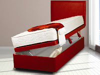 Red Leather Ottoman Bed on Mattressman.co.uk