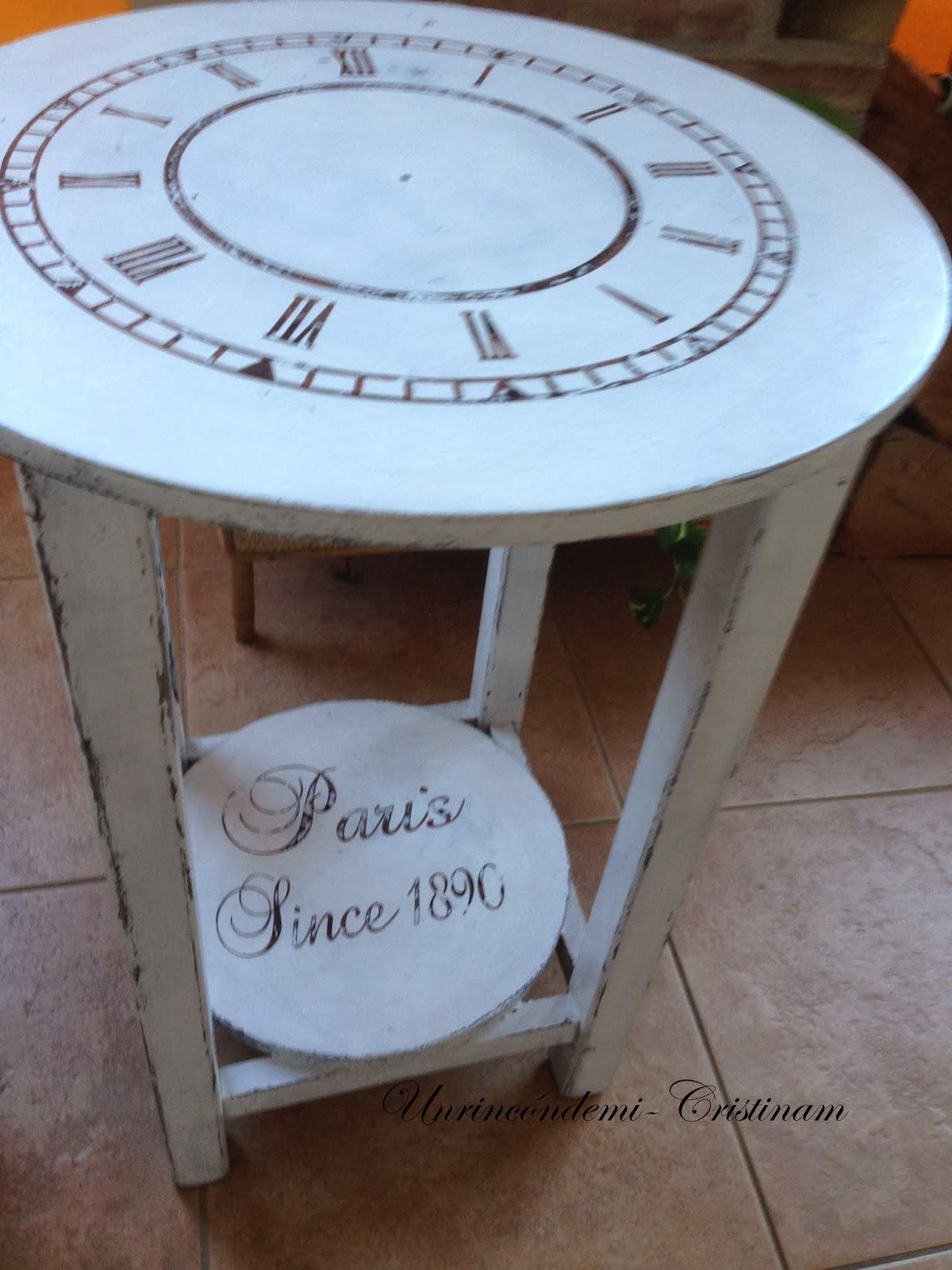 Un rinc n de mi mesa camilla ahora mesa reloj - Mesa camilla moderna ...