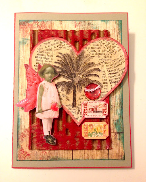 mixed media valentine lisa fulmer