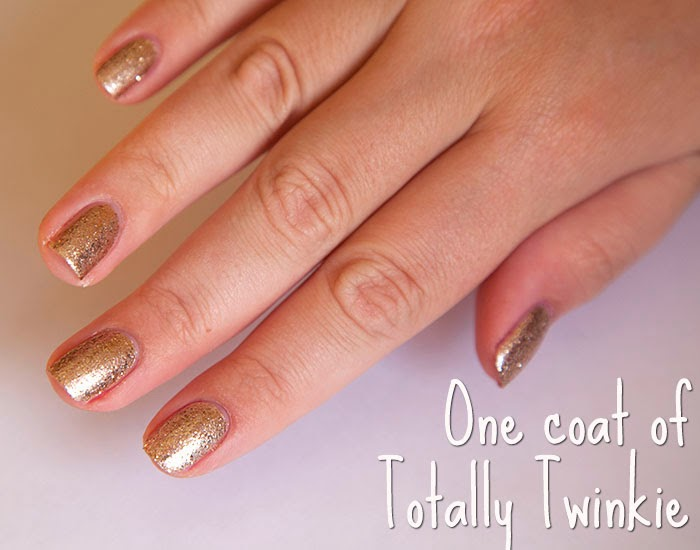 Ted Baker Golden Girl Nail Vanirsh Gold Glitter Nails Review
