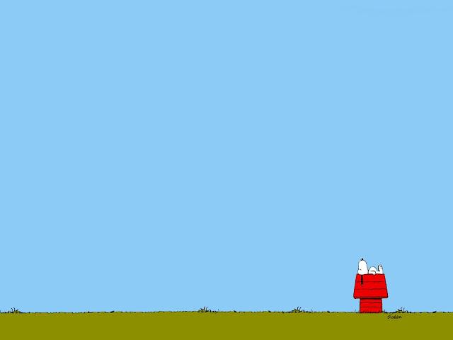 Walpaper Snoopy acostadito