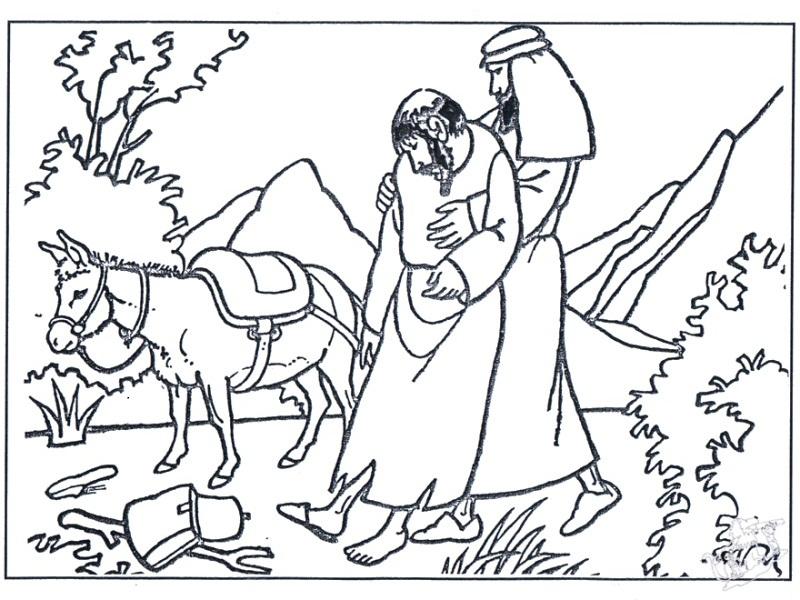 COLOREA TUS DIBUJOS: Parábola del Buen Samaritano