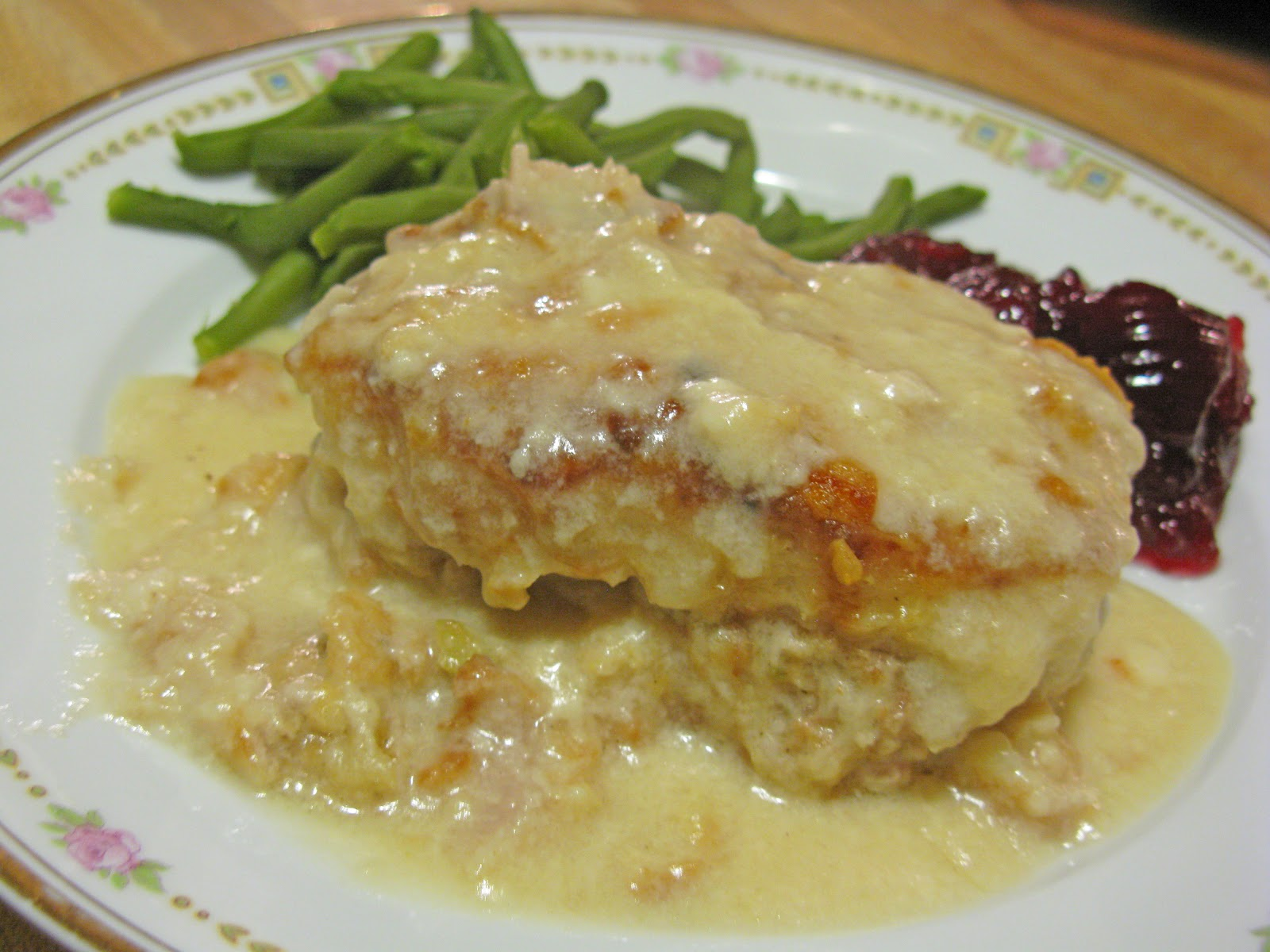 Food for A Hungry Soul: Baked Stuffed Pork Chops and Gravy