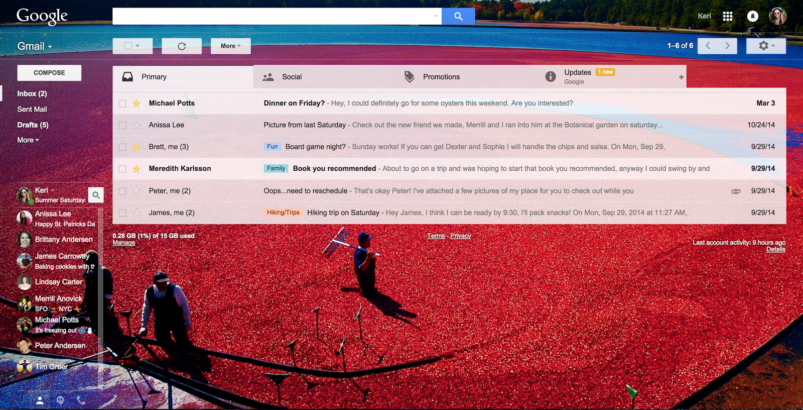 Gmail themes free