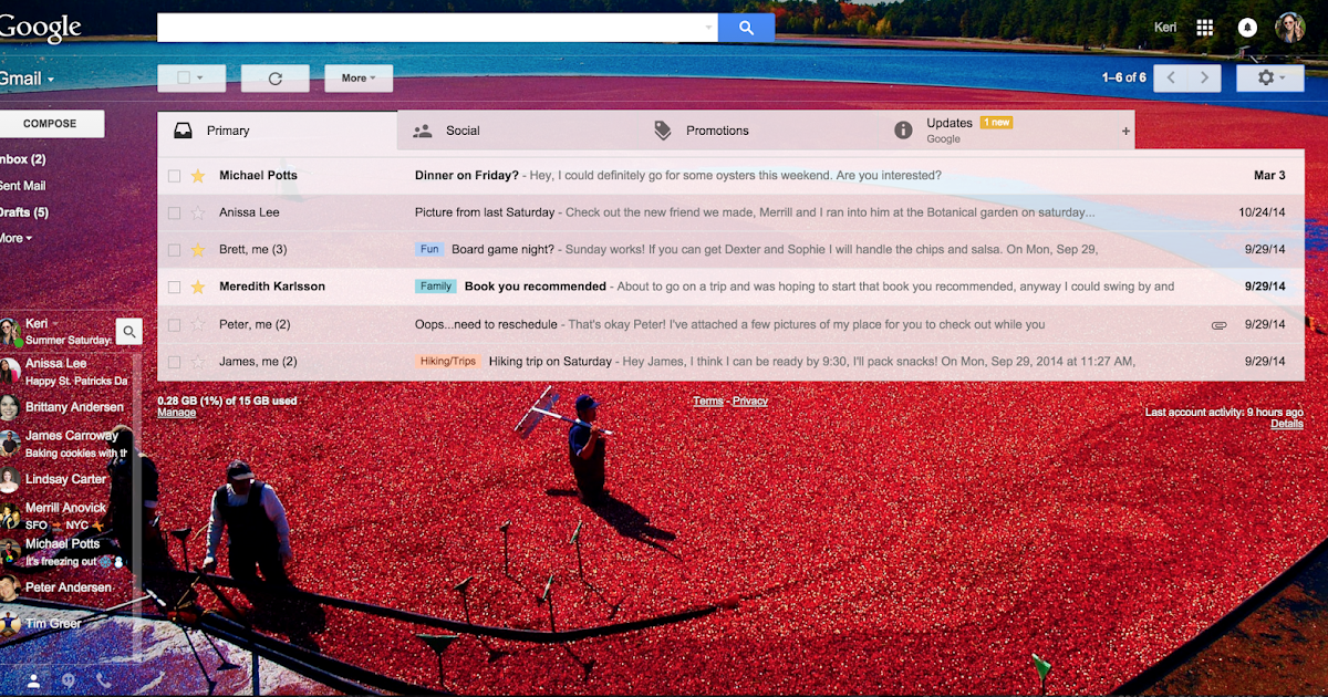 Express yourself in email: hundreds more themes, plus emoji
