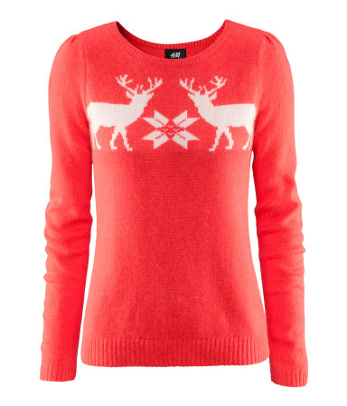 H M Reindeer Sweater Items in collage  click for