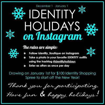 Celebrate the holidays with IDENTITY on Instagram
