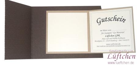 l ftchen basteln mit papier und stempeln geburtstagskarte mit gutschein. Black Bedroom Furniture Sets. Home Design Ideas