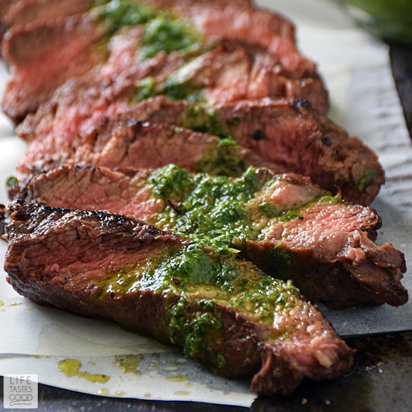 Pan-Seared Steaks With Chimichurri Sauce Recipe — Dishmaps
