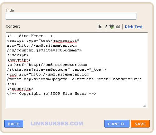 Kode Sitemeter