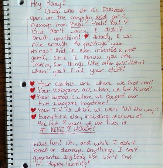 best bad breakup letters