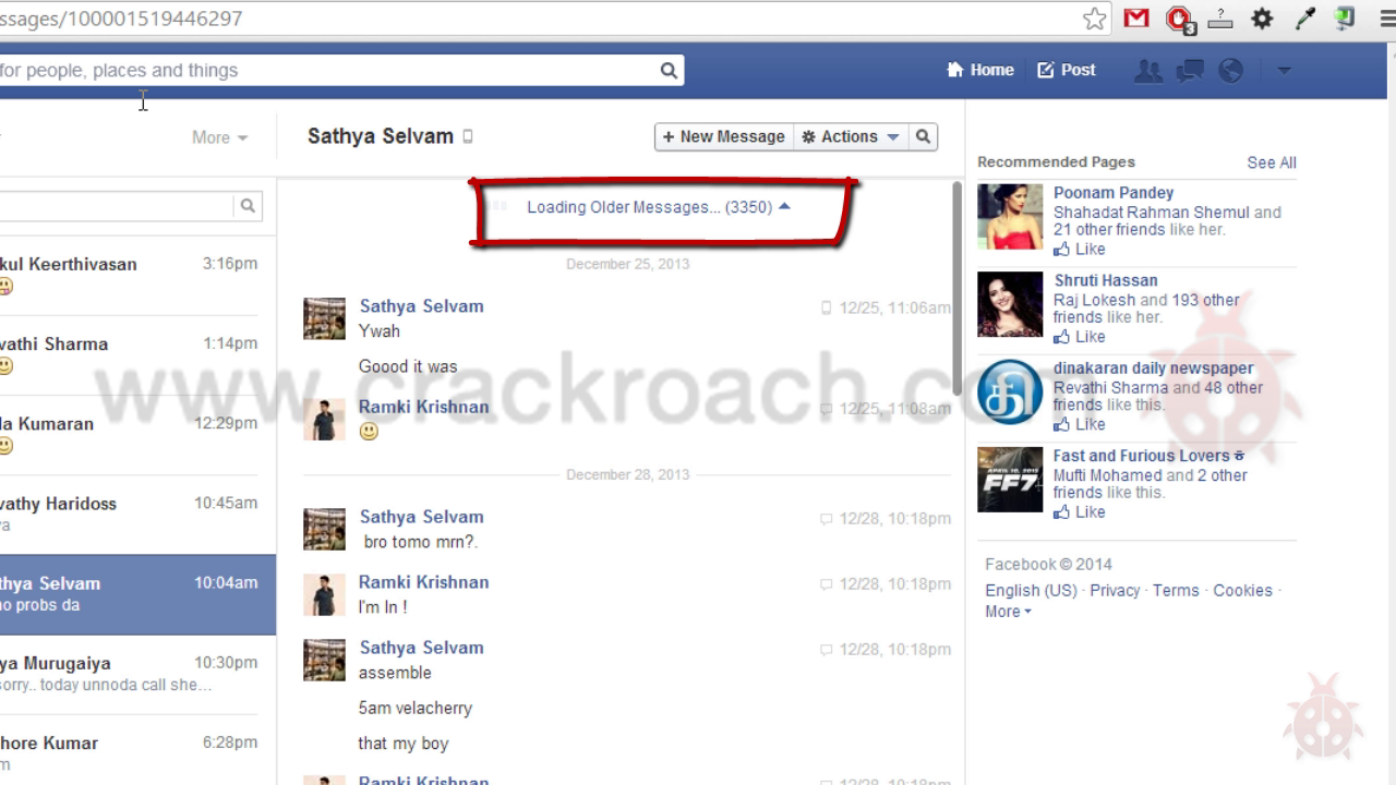 how to download facebook chat conversation