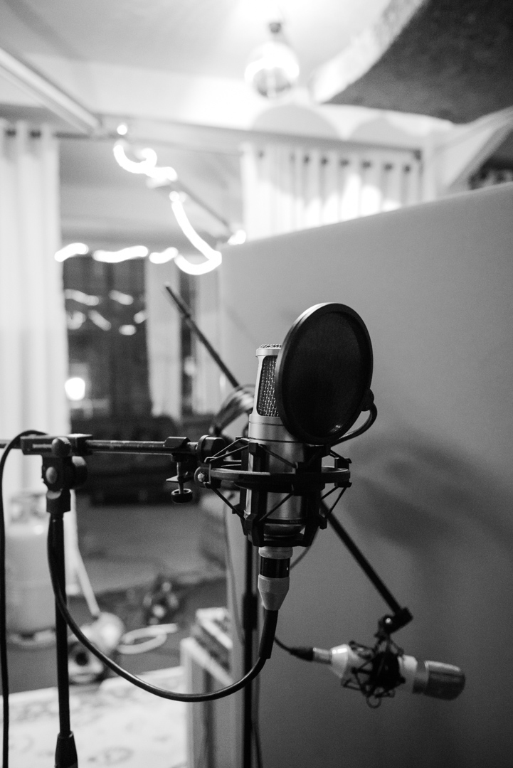 Birmingham recording studio Park Studios JQ | recording vocals and guitar | microphones