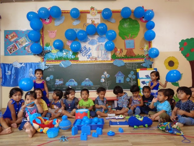 On the top of the World   : Celebrate Blue Colour Day (Play Group