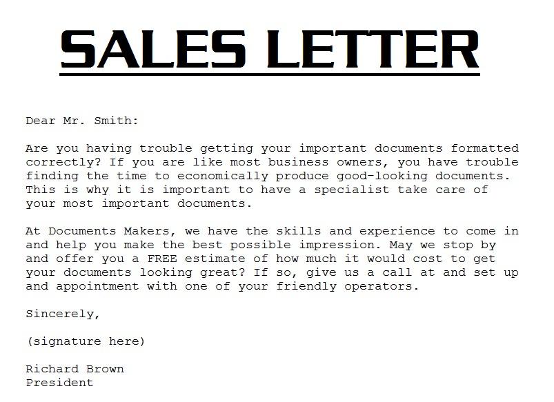 Sales Letter Template. 7+ Sales Letter Template,Sales Letter ...
