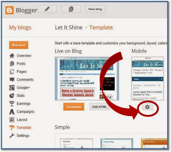 Blogger Setting for Moble Friendly Posts