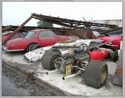 This Might Not Be A Barn Find Looks More Like Ferrari Collection Been Damagedbut I Have Shown Many Shops With Some Rare Cars Just