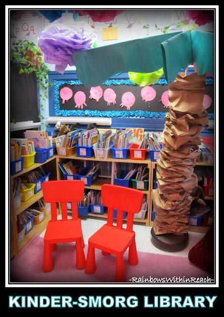 Kindergarten Classroom Library with Classic Chicka Chicka Boom Boom Palm via RainbowsWithinReach