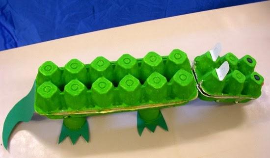 Un original cocodrilito reciclado !