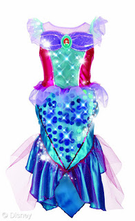 Ariel Musical Light Up dress Focused on the Magic