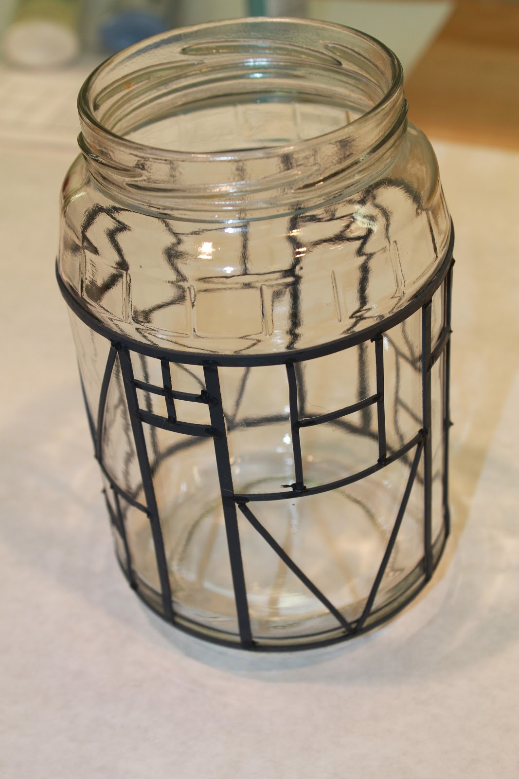 The fabulous blog of miss ginger grant stained glass for How to stain glass jars with paint
