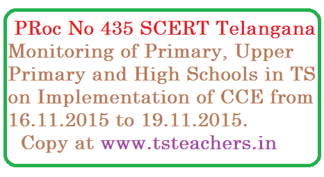 SCERT Telangana | Proc 435 School Monitorings by SCERT Telangana | Education Policy and CCE Implementation in Schools | Proc No 435 Monitoring of Schools by SCERT Telangana on CCE Implementation and Teaching Learning Process in All Schools from 1st to 10th Classes proc-435-scert-school-monitoring-on-cce-implementation-in-ts