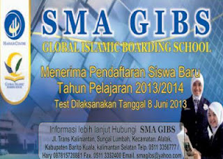 Penerimaan Siswa baru SMA GIBS