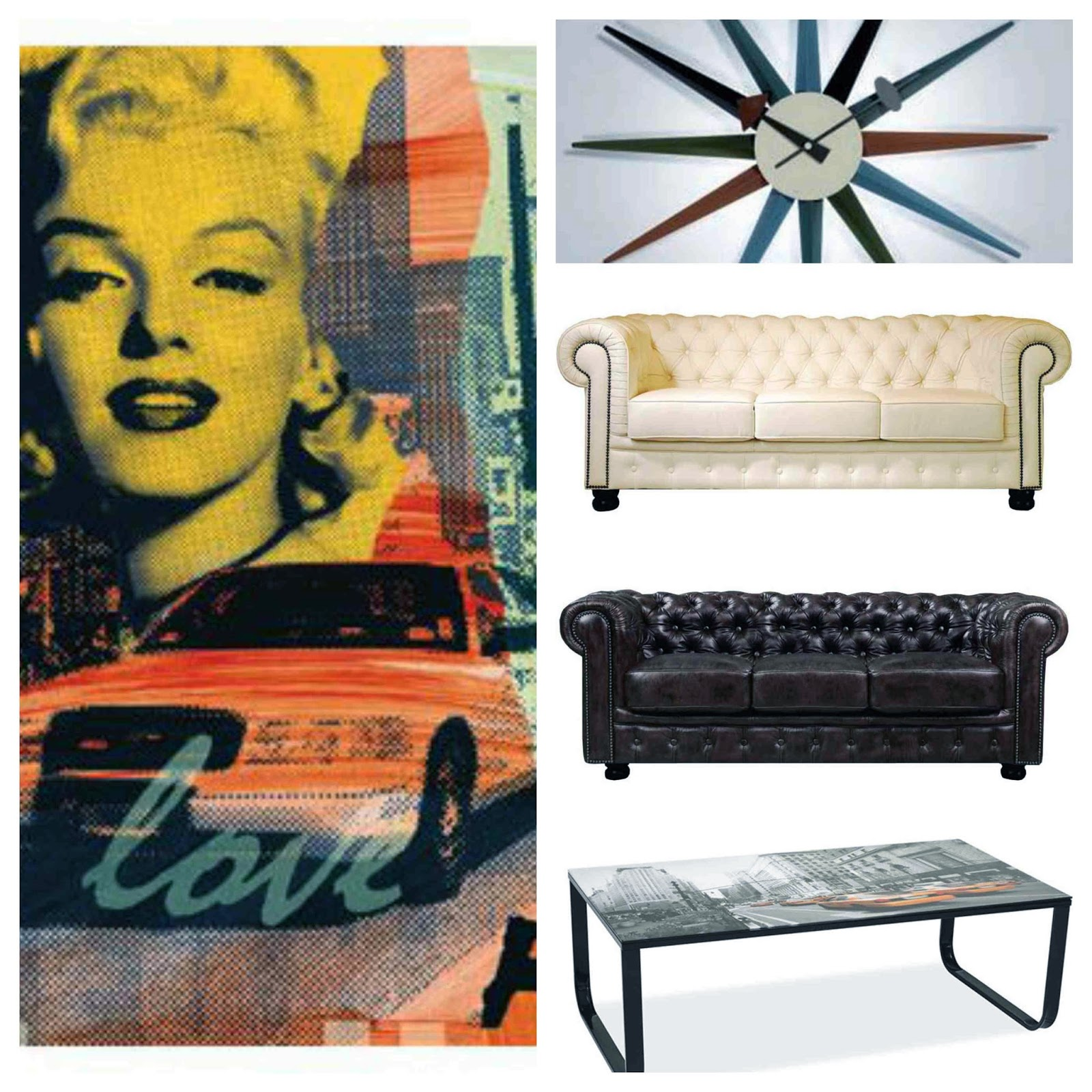 Coffee table metal legs glass top N.Y New York Leather sofa