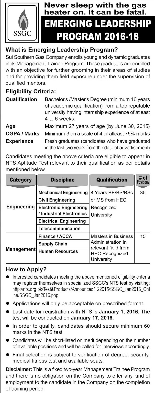Management Trainee Jobs in Sui Southern Gas for Engineers, Finance & Management SSGC Jobs