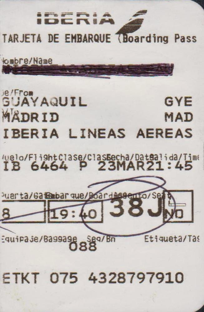 vuelo madrid guayaquil: