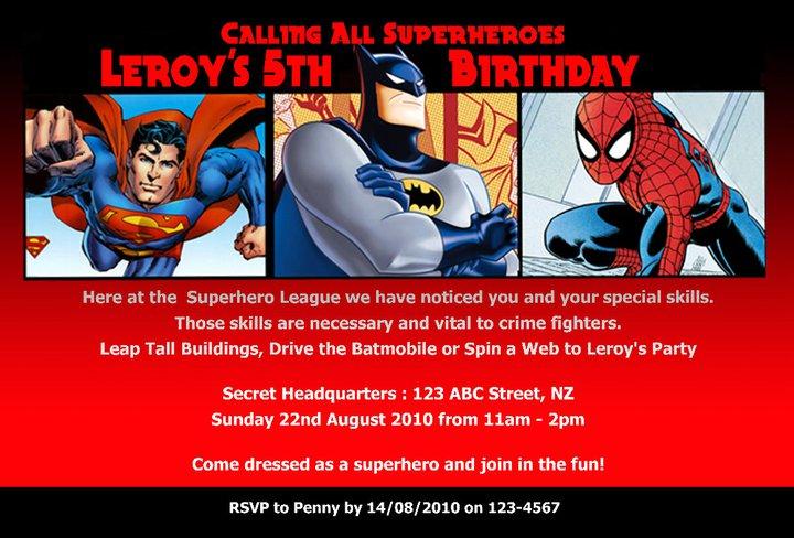 Superhero Party Invites Free was luxury invitation ideas