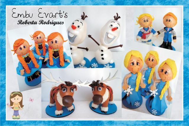 turma frozen em eva 3d para decoração infantil
