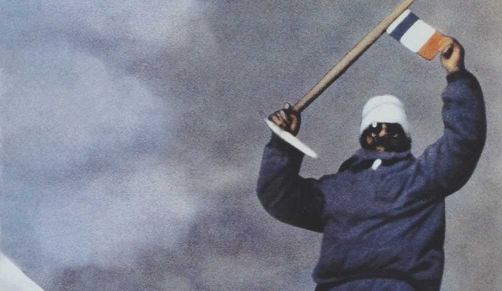 Maurice Herzog en la cima del Annapurna el 3 de junio de 1950